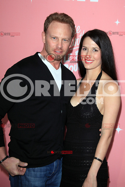 Ian Ziering and Erin Kristine Ludwig at Jennie Garth's 40th birthday celebration and premiere party for 'Jennie Garth: A Little Bit Country' at The London Hotel on April 19, 2012 in West Hollywood, California Credit: mpi20/MediaPunch Inc.