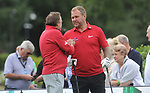 Wales Scott Quinnell and Wales Phil Glenister<br /> <br /> Celebrity Cup 2019 - Golf - Celtic Manor resort - Saturday 13th July 2019 - Newport<br /> <br /> © www.fotowales.com- PLEASE CREDIT IAN COOK