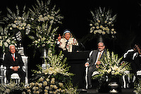 Rabbi Michael Lerner at the memorial service for boxing legend Muhammad Ali at the KFC Yum! Center in Louisville, Kentucky on June 10, 2016.  Ali was involved in the planning of the ceremony which included speeches from leaders of numerous faith as well as comedian Billy Crystal and former American President Bill Clinton.