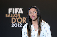 Fussball International  FIFA Ballon d Or / Weltfussballerin 2012    Pressekonferenz   07.01.2013 Marta (Brasilien)