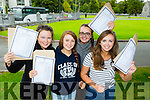 Killarney Presentation girls l-r: Aishling O'Connor, Melissa Buckley, Chloe Enright and Shauna Kelly celebrate after receiving their Leaving Cert results on Wednesday morning
