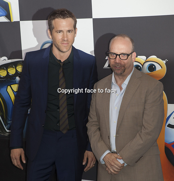 NEW YORK, NY - JULY 9: Ryan Reynolds and Paul Giamatti attend the 'Turbo' premiere at AMC Loews Lincoln Square on July 9, 2013 in New York City.<br />