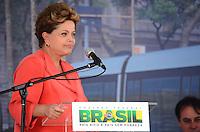 RIO DE JANEIRO, RJ, 14 DE JUNHO DE 2013 -PRESIDENTA DILMA NO PORTO MARAVILHA-RJ-A Presidenta Dilma Rousseff na cerimônia de assinatura de contrato para construção e operação do veículo leve sobre trilhos (VLT) nas áreas central e portuária do Rio de Janeiro, na Zona Portuária Rio de Janeiro.FOTO:MARCELO FONSECA/BRAZIL PHOTO PRESS