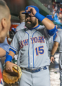 New York Mets shortstop Luis Guillorme (15) leaves the dugout following his team's 25 - 4 defeat by the Washington Nationals at Nationals Park in Washington, D.C. on Tuesday, July 31, 2018.  <br /> Credit: Ron Sachs / CNP<br /> (RESTRICTION: NO New York or New Jersey Newspapers or newspapers within a 75 mile radius of New York City)