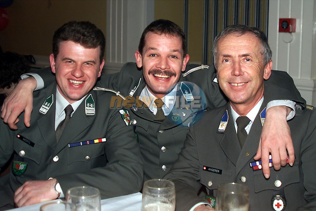 Angerer Werner, Nortz Josef and Lientscher from the Austrian army choir at the Westcourt hotel..pic: Newsfile
