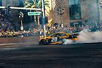 #20 Erik Jones  during NASCAR's Burnout Blvd. Driven By Goodyear