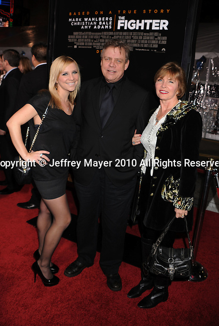 "HOLLYWOOD, CA. - December 06: Mark Hamill and family attend ""The Fighter"" Los Angeles premiere at Grauman's Chinese Theater on December 6, 2010 in Hollywood, California."