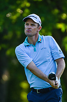 Justin Rose (GBR) watches his tee shot on 12 during round 2 of the Fort Worth Invitational, The Colonial, at Fort Worth, Texas, USA. 5/25/2018.<br /> Picture: Golffile | Ken Murray<br /> <br /> All photo usage must carry mandatory copyright credit (&copy; Golffile | Ken Murray)