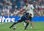 Casemiro of Real Madrid and El Zhar of Cd Leganes during the match between Real Madrid v Cd Leganes of LaLiga, 2018-2019 season, date 3. Santiago Bernabeu Stadium. Madrid, Spain - 1 September 2018. Mandatory credit: Ana Marcos / PRESSINPHOTO