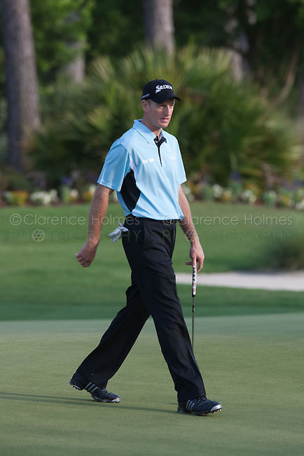 PONTE VEDRA BEACH, FL - MAY 6: Jim Furyk walks on the 12th green during his practice round on Wednesday, May 6, 2009 for the Players Championship, beginning on Thursday, at TPC Sawgrass in Ponte Vedra Beach, Florida.