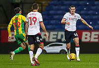 Bolton Wanderers' Jack Hobbs breaks out of defence<br /> <br /> Photographer Andrew Kearns/CameraSport<br /> <br /> The EFL Sky Bet Championship - Bolton Wanderers v West Bromwich Albion - Monday 21st January 2019 - University of Bolton Stadium - Bolton<br /> <br /> World Copyright © 2019 CameraSport. All rights reserved. 43 Linden Ave. Countesthorpe. Leicester. England. LE8 5PG - Tel: +44 (0) 116 277 4147 - admin@camerasport.com - www.camerasport.com