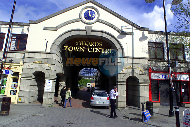 Swords town centre..Picture  Newsfile...This Picture is sent to you by:..Newsfile Ltd.The View, Millmount Abbey, Drogheda, Co Louth, Ireland..Tel: +353419871240.Fax: +353419871260.GSM: +353862500958.ISDN: +353419871010.email: pictures@newsfile.ie.www.newsfile.ie