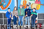 Junior Bones Competition<br />  Stephen Browne  who has won the Senior competition on 2 occassions flew in from Boston to Judge both the Junior &amp; Senior Competitions. pictured here with the junior contestants,L-R  3rd. Darragh Murphy ,<br /> 2nd Jackie Murphy, 1st. John Forde &amp; 4th. David Murphy.