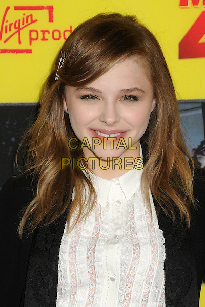 "Chloe Moretz.""Movie 43"" Los Angeles Premiere held at Grauman's Chinese Theatre, Hollywood, California, USA..January 23rd, 2013.headshot portrait hair smiling top blazer black white blouse    .CAP/ADM/BP.©Byron Purvis/AdMedia/Capital Pictures."