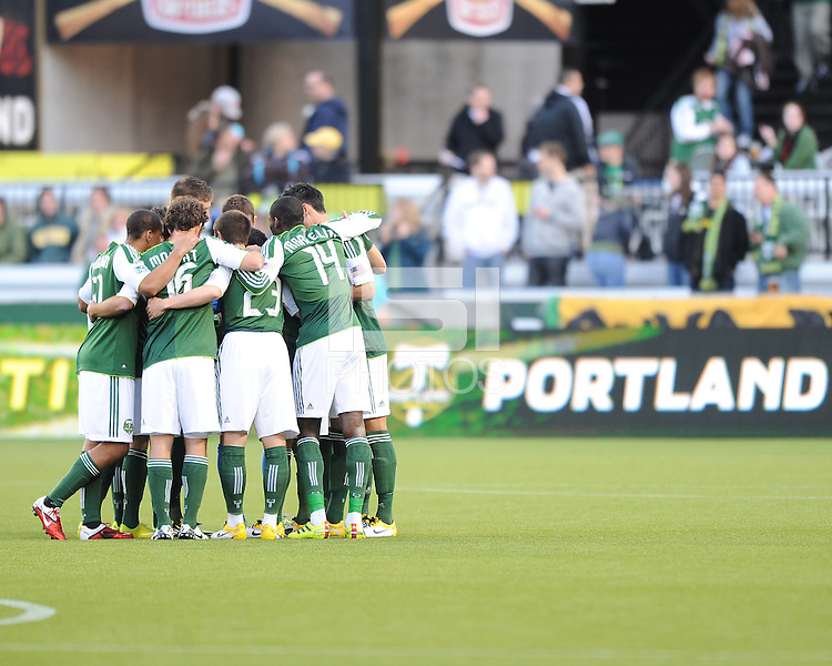 Portland Timbers vs the San Jose Earthquakes during the U.S. Open Qualification game at Jeld-Wen Field, in Portland Oregon, May 3, 2011.  The Earthquakes defeated the Timbers 1-0.