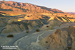 Eroding alluvial fans are a exemplary geologic feature in Death Valley. Near Salt Creek.