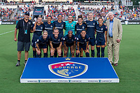 Cary, NC - August 15, 2019:  The North Carolina Courage and Manchester City play during the Women's International Champions Cup at WakeMed Soccer Park.