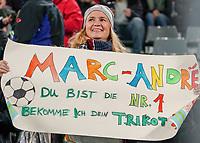 Fan von Torwart Marc-Andre ter Stegen (Deutschland Germany) - 09.10.2019: Deutschland vs. Argentinien, Signal Iduna Park, Freunschaftsspiel<br /> DISCLAIMER: DFB regulations prohibit any use of photographs as image sequences and/or quasi-video.
