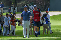 Paul Casey (GBR) shares a laugh with caddie, John McLaren as they head to 16 during round 3 of the World Golf Championships, Mexico, Club De Golf Chapultepec, Mexico City, Mexico. 2/23/2019.<br /> Picture: Golffile | Ken Murray<br /> <br /> <br /> All photo usage must carry mandatory copyright credit (© Golffile | Ken Murray)
