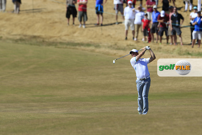 Rory MCILROY (NIR) plays his 2nd shot on the 6th hole during Friday's Round 2 of the 2015 U.S. Open 115th National Championship held at Chambers Bay, Seattle, Washington, USA. 6/20/2015.<br /> Picture: Golffile | Eoin Clarke<br /> <br /> <br /> <br /> <br /> All photo usage must carry mandatory copyright credit (&copy; Golffile | Eoin Clarke)
