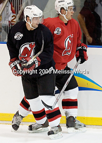 The New Jersey Devils and prospects took part in their second official on-ice day of training camp on Saturday, September 16, 2006 at the Richard E. Codey Rink at South Mountain in West Orange, New Jersey.<br />