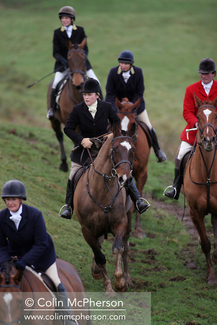 The Wynnstay Hunt chase a fox across the open country. The Wynnstay Hunt, named after Sir Watkin Williams-Wynn, dated back to the 18th century and hunted on country estates in Shropshire, Cheshire and north Wales. Hunting with dogs in England and Wales became illegal on 18th February 2005 despite legal challenges to the ban and many hunts vowed to continue the ancient sport of foxhunting, risking prosecution.