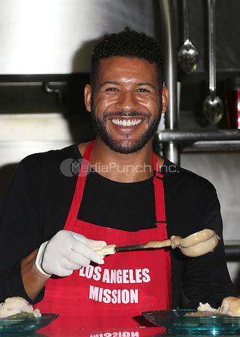Los Angeles, CA - DECEMBER 23: Jeffrey Bowyer-Chapman, At Los Angeles Mission Christmas Celebration, At The Los Angeles Mission In California on December 23, 2016. Credit: Faye Sadou/MediaPunch