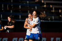 Seattle, WA - Wednesday, June 28, 2017: Kiersten Dallstream and Christine Nairn during a regular season National Women's Soccer League (NWSL) match between the Seattle Reign FC and the Chicago Red Stars at Memorial Stadium.