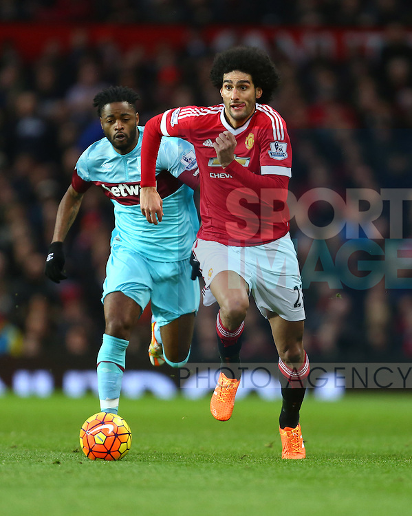 Marouane Fellaini of Manchester United - Manchester United vs West Ham United - Barclay's Premier League - Old Trafford - Manchester - 05/12/2015 Pic Philip Oldham/SportImage