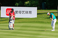 Lucas Bjerregaard (DEN) second shot on the 16th fairway during the 3rd round at the WGC HSBC Champions 2018, Sheshan Golf CLub, Shanghai, China. 27/10/2018.<br /> Picture Fran Caffrey / Golffile.ie<br /> <br /> All photo usage must carry mandatory copyright credit (&copy; Golffile | Fran Caffrey)