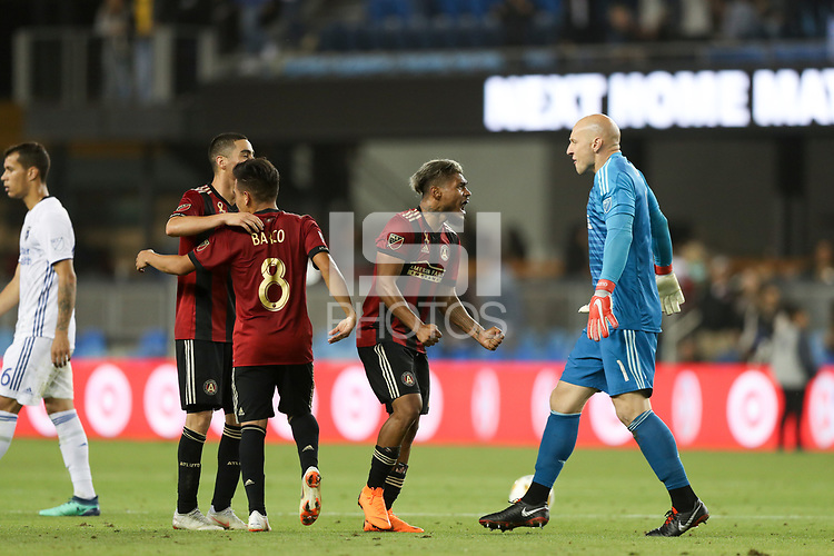 San Jose, CA - Wednesday September 19, 2018: Josef Martinez during a Major League Soccer (MLS) match between the San Jose Earthquakes and Atlanta United FC at Avaya Stadium.