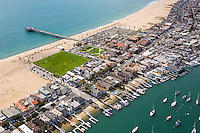Aerial Stock Photo Of The Balboa Pier And Peninsula Park