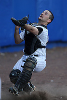 March 14, 2010:  Catcher Rick Phillips of UMBC in a game vs. Bucknell at Chain of Lakes Stadium in Winter Haven, FL.  Photo By Mike Janes/Four Seam Images