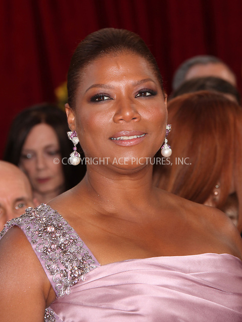 WWW.ACEPIXS.COM . . . . .  ....March 7 2010, Hollywood, CA....Actress Queen Latifah arriving at the 82nd Annual Academy Awards held at Kodak Theatre on March 7, 2010 in Hollywood, California.....Please byline: Z10-ACE PICTURES... . . . .  ....Ace Pictures, Inc:  ..Tel: (212) 243-8787..e-mail: info@acepixs.com..web: http://www.acepixs.com