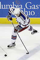 16 January 2006: New York Rangers' Thomas Pock plays against the Columbus Blue Jackets at Nationwide Arena in Columbus, Ohio.<br />