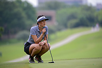Michelle Wie (USA) lines up her putt on 9 during round 2 of  the Volunteers of America Texas Shootout Presented by JTBC, at the Las Colinas Country Club in Irving, Texas, USA. 4/28/2017.<br /> Picture: Golffile   Ken Murray<br /> <br /> <br /> All photo usage must carry mandatory copyright credit (&copy; Golffile   Ken Murray)