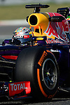 Red Bull's Sebastian Vettel drives during a practice session at the Circuit de Catalunya on May 9, 2014. <br /> PHOTOCALL3000/PD