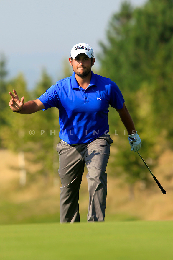 Alexander Levy (FRA) during the final round of the Kazakhstan Open played at Zhailjau Golf Resort, Almaty on September 16, 2012 in Almaty, Kazakhstan.(Picture Credit / Phil Inglis)
