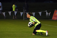 Kansas City, MO - Saturday May 28, 2016: FC Kansas City goalkeeper Nicole Barnhart (18). FC Kansas City defeated Orlando Pride 2-0 during a regular season National Women's Soccer League (NWSL) match at Swope Soccer Village.