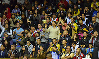 BOGOTÁ -COLOMBIA. 31-05-2014. Aspecto del quinto juego entre Guerreros de Bogotá y Cafeteros de Armenia por los playoffs semifinales de la  Liga DirecTV de Baloncesto 2014-I de Colombia realizado en el coliseo El Salitre de Bogotá./ Aspect of the 5th match between Guerreros de Bogota and Cafeteros de Armenia for the playoffs semifinals of the DirecTV Basketball League 2014-I in Colombia played at El Salitre coliseum in Bogota. Photo: VizzorImage/ Gabriel Aponte / Staff