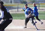 Western Nevada's Briauna Carter makes a play against Salt Lake Community College at Edmonds Sports Complex in Carson City, Nev., on Friday, April 15, 2016. <br />Photo by Cathleen Allison