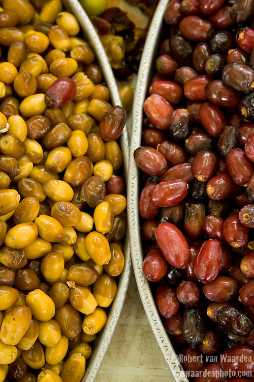 Dates in a market in Muscat, Oman.