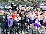 Members of the Chain Gang Cycle Club with Sean Kelly at the Stephen Roche Atlantic Challenge charity cycle in Ennistymon, Co Clare on Saturday