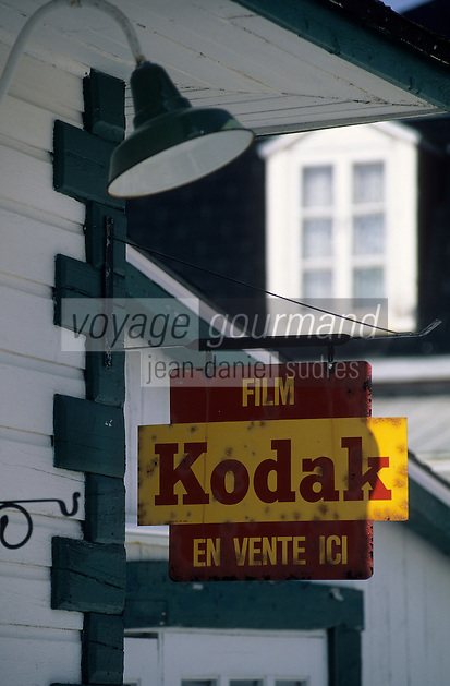 Amérique/Amérique du Nord/Canada/Quebec/Les Eboulements : Enseigne Kodak