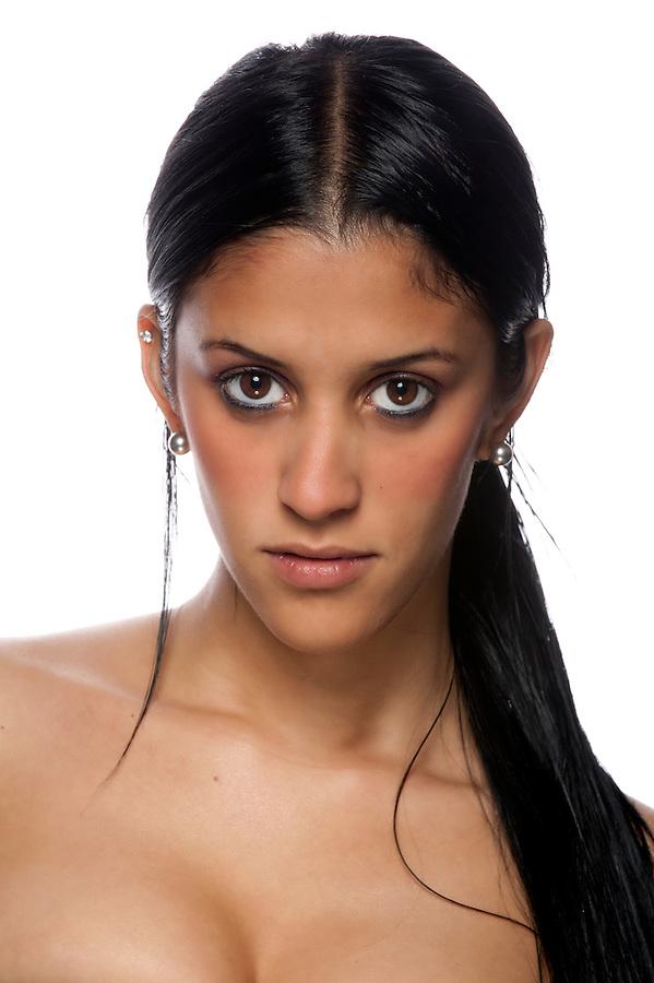 Portrait of beautiful hispanic woman.