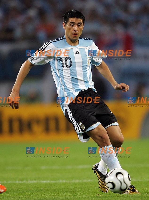 Hamburg 10/6/2006 World Cup 2006.Argentina Cote d'Ivoire - Argentina Costa d'Avorio 2-1.Photo Andrea Staccioli Insidefoto.Juan Riquelme