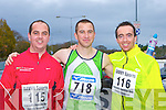 Maurice O'Shea, Cieran Reid and Billy Lacey Tralee keeping fit at the Feet First 5km in Killarney on Saturday .