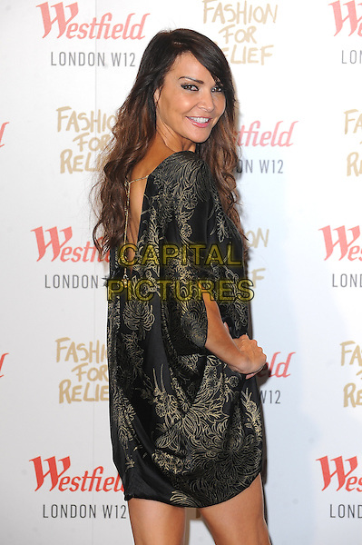 LONDON, ENGLAND - NOVEMBER 27: Lizzie Cundy attends the Fashion For Relief Pop Up Launch Party at Westfield Shopping Centre on November 27, 2014 in London, England.<br />  CAP/BEL<br /> &copy;Tom Belcher/Capital Pictures
