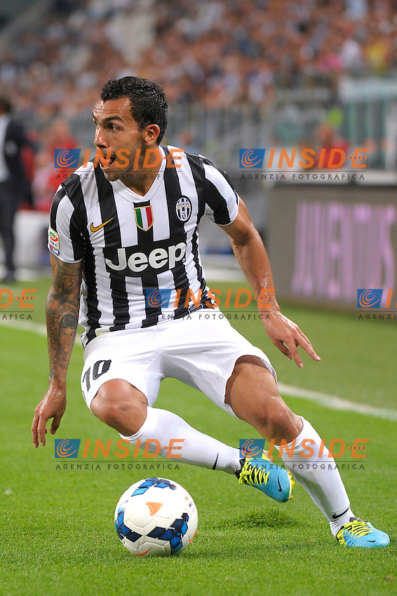 Caritos Tevez  Juventus<br /> Torino 31-08-2013 Juventus Stadium<br /> Football Calcio 2013/2014 Serie A<br /> Juventus Vs Lazio<br /> Foto Federico Tardito Insidefoto