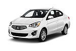 2017 Mitsubishi Mirage-G4 SE-CVT 4 Door Sedan Angular Front stock photos of front three quarter view